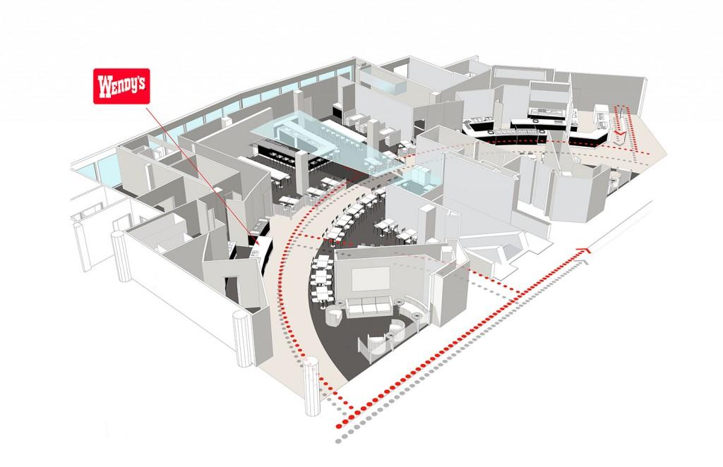 B 4B Foodcourt Aerial