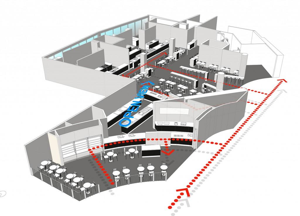H 7C Foodcourt Aerial