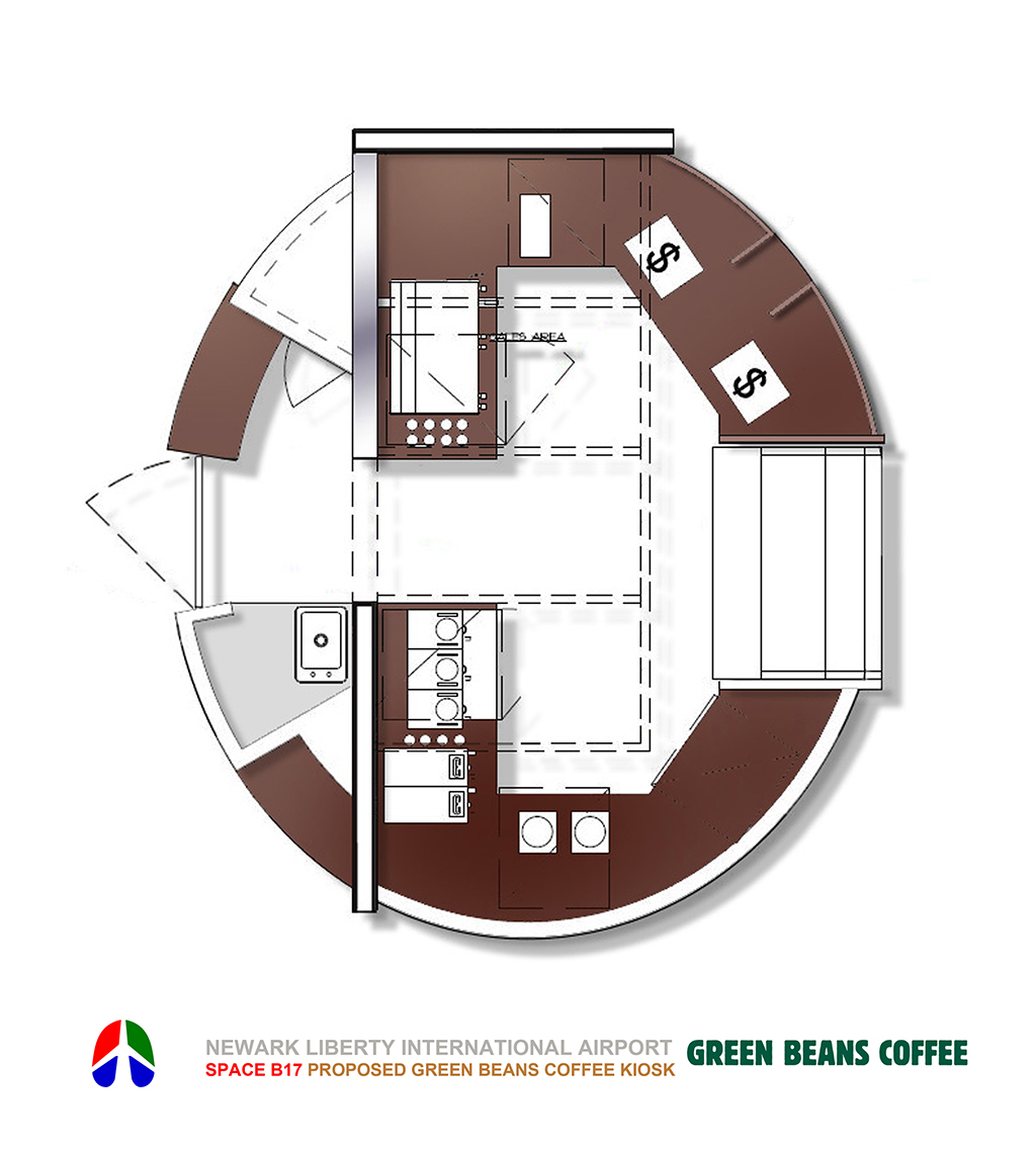 Green Beans Newark B17 Kiosk Plan
